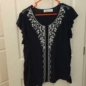 Faded Glory navy blouse top